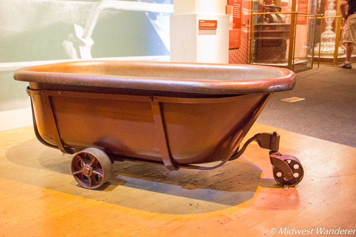 bathtub used in Hershey factory