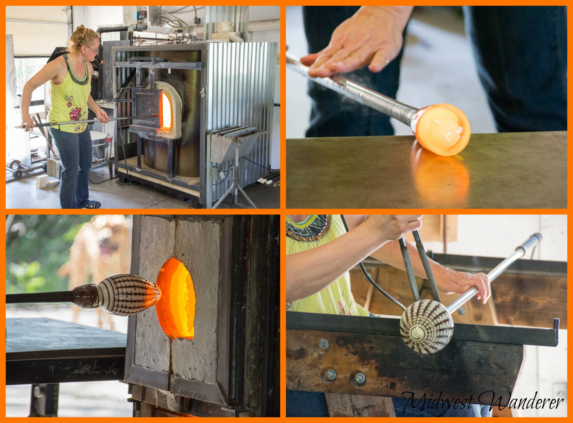 Hot Blown Glass demonstration