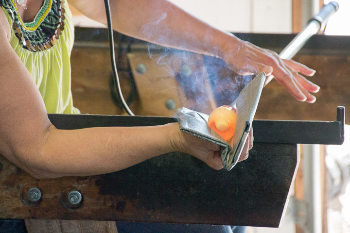 shaping the glass