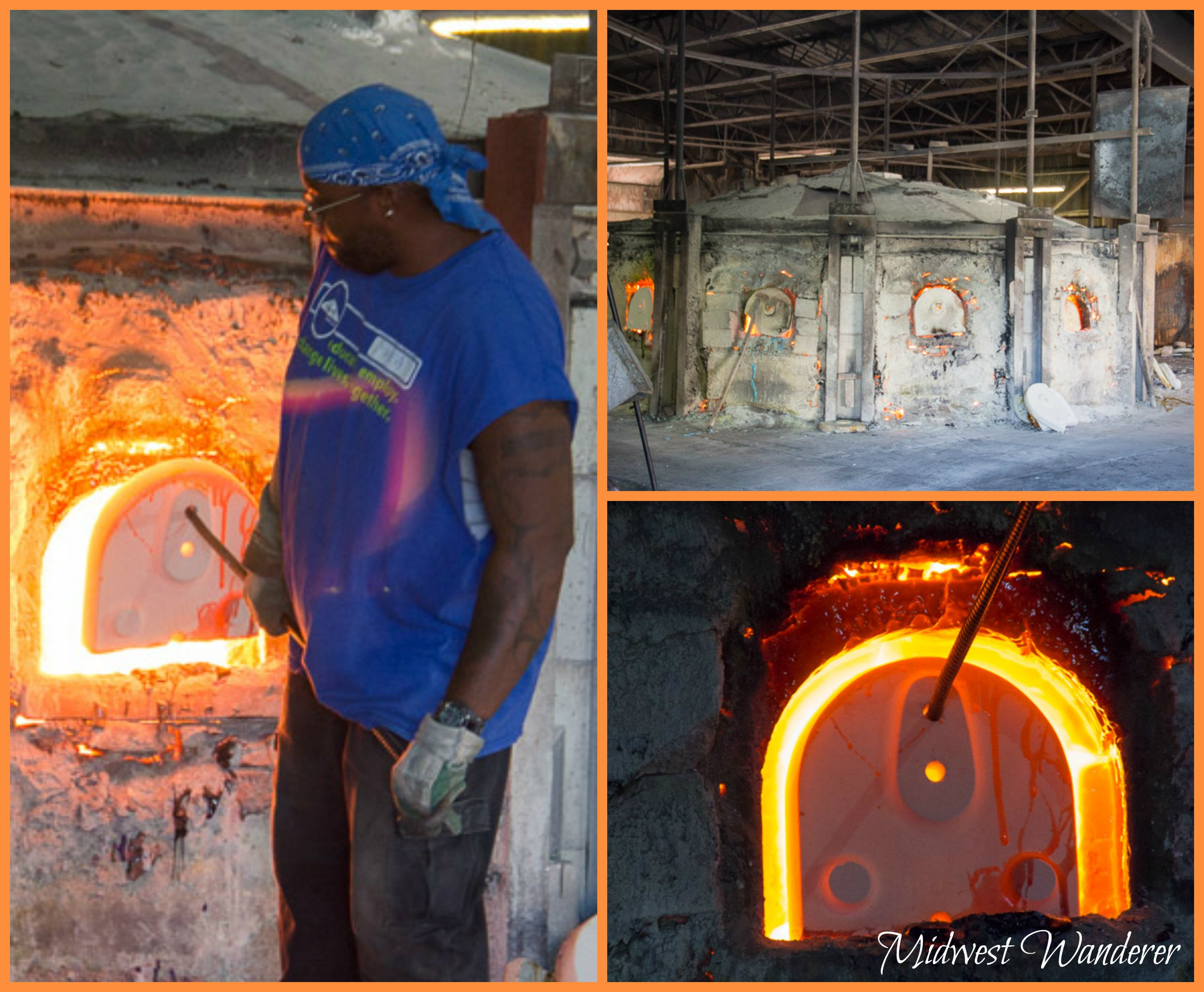 Kokomo Opalescent Glass furnace