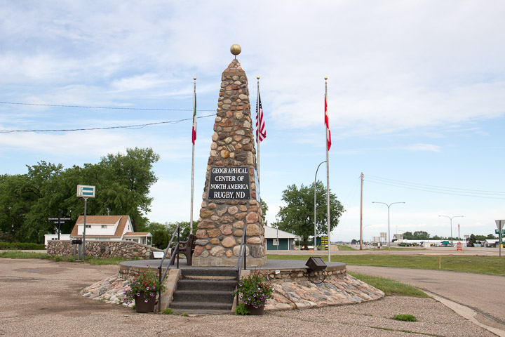 Geographical Center of US monument, Rugby North Dakota