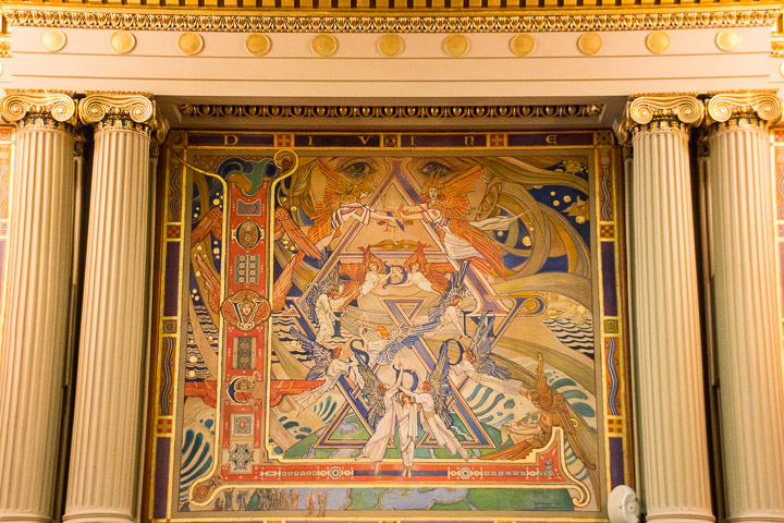 Painting in Pennsylvania State Capitol Supreme Court room