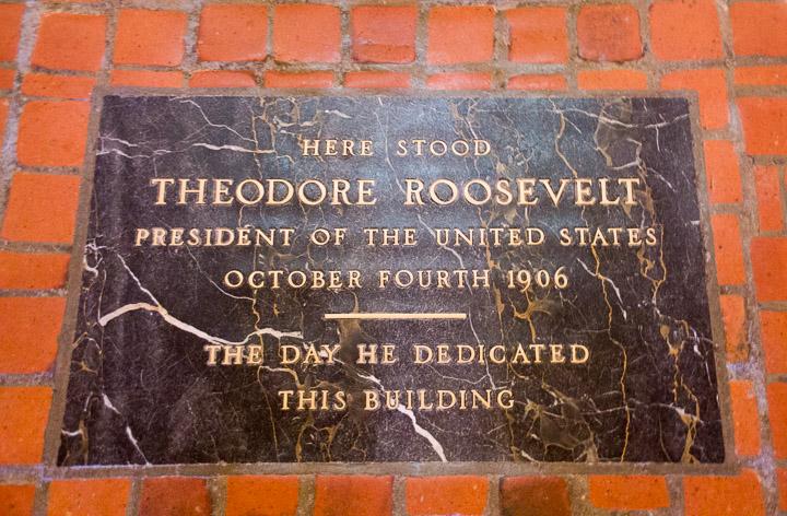 Theodore Roosevelt plaque