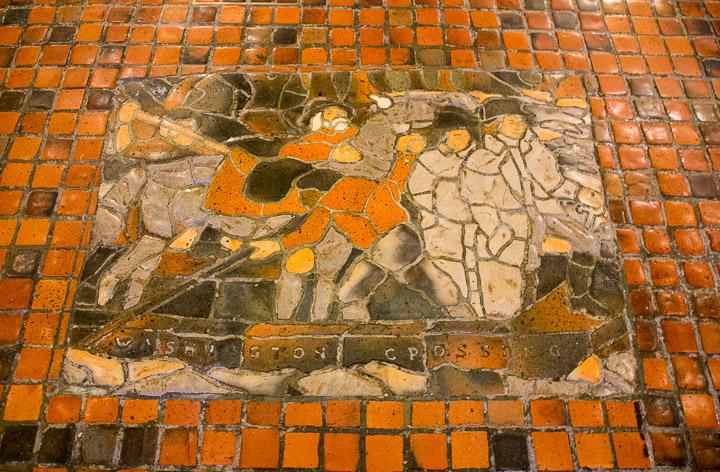 Moravian Mosaic in Pennsylvania State Capitol