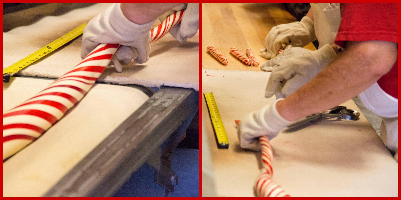 Making peppermint sticks