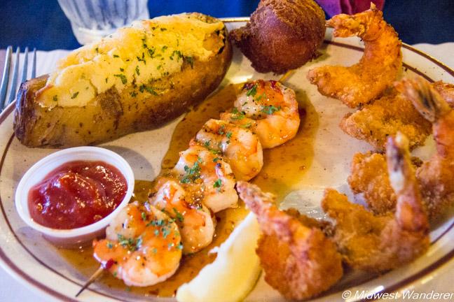 Key West Shrimp House shrimp dinner