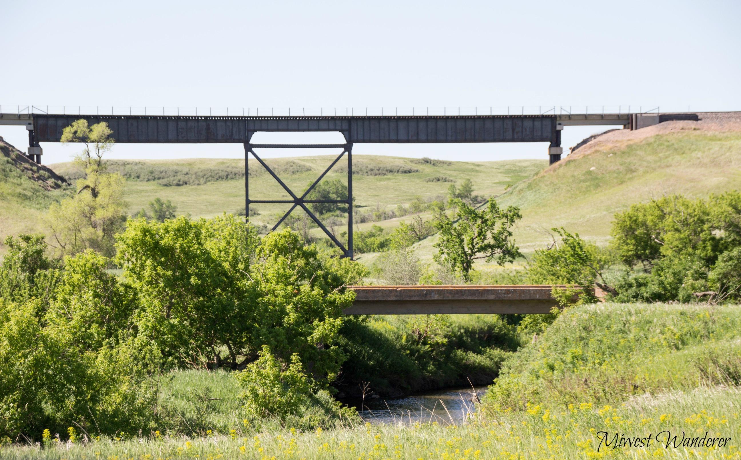 North dakota morton county glen ullin -  Near Glen Ullin North Dakota Cattle Tractor Bridges
