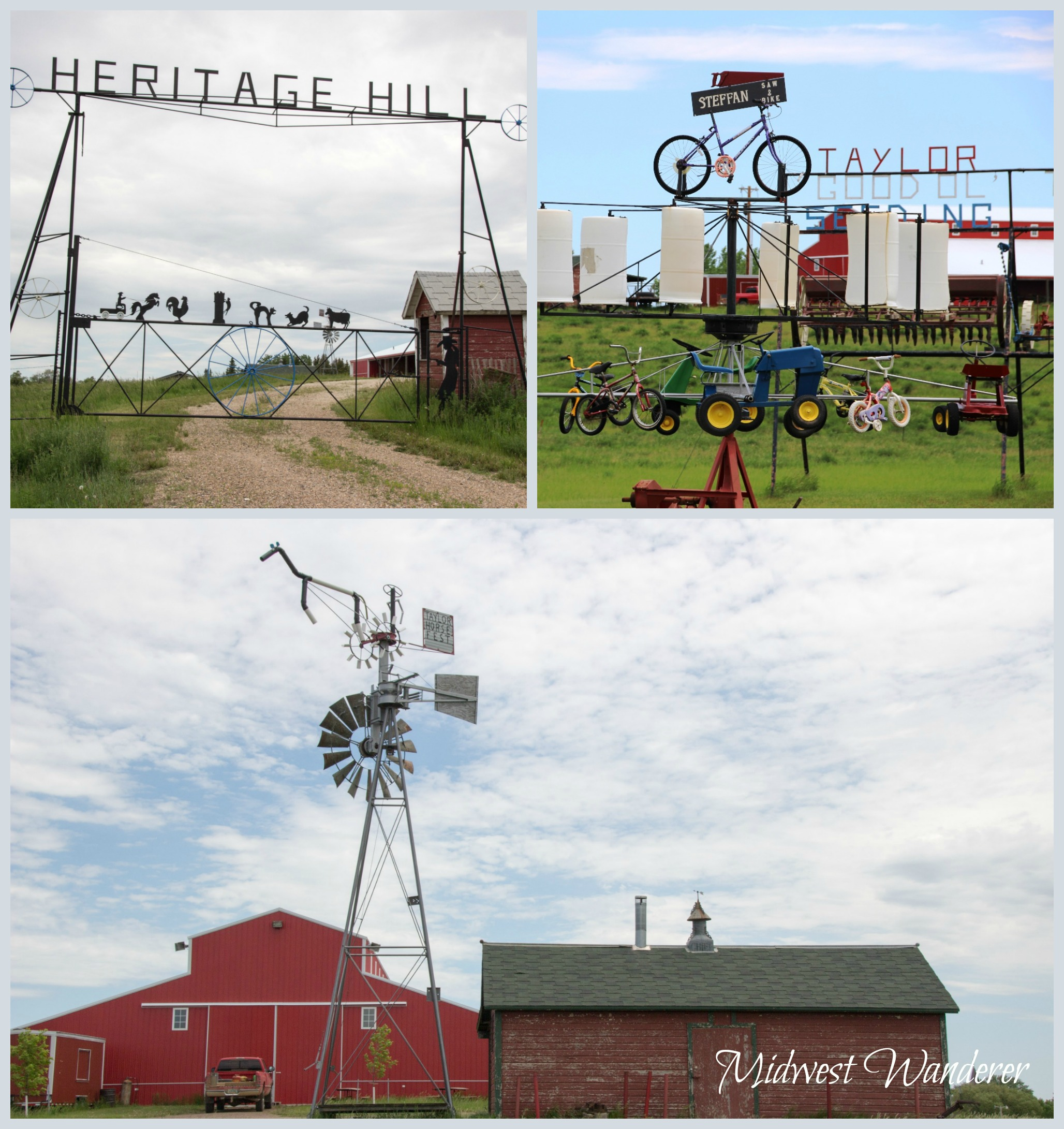 Metal Sculptures in Taylor, North Dakota
