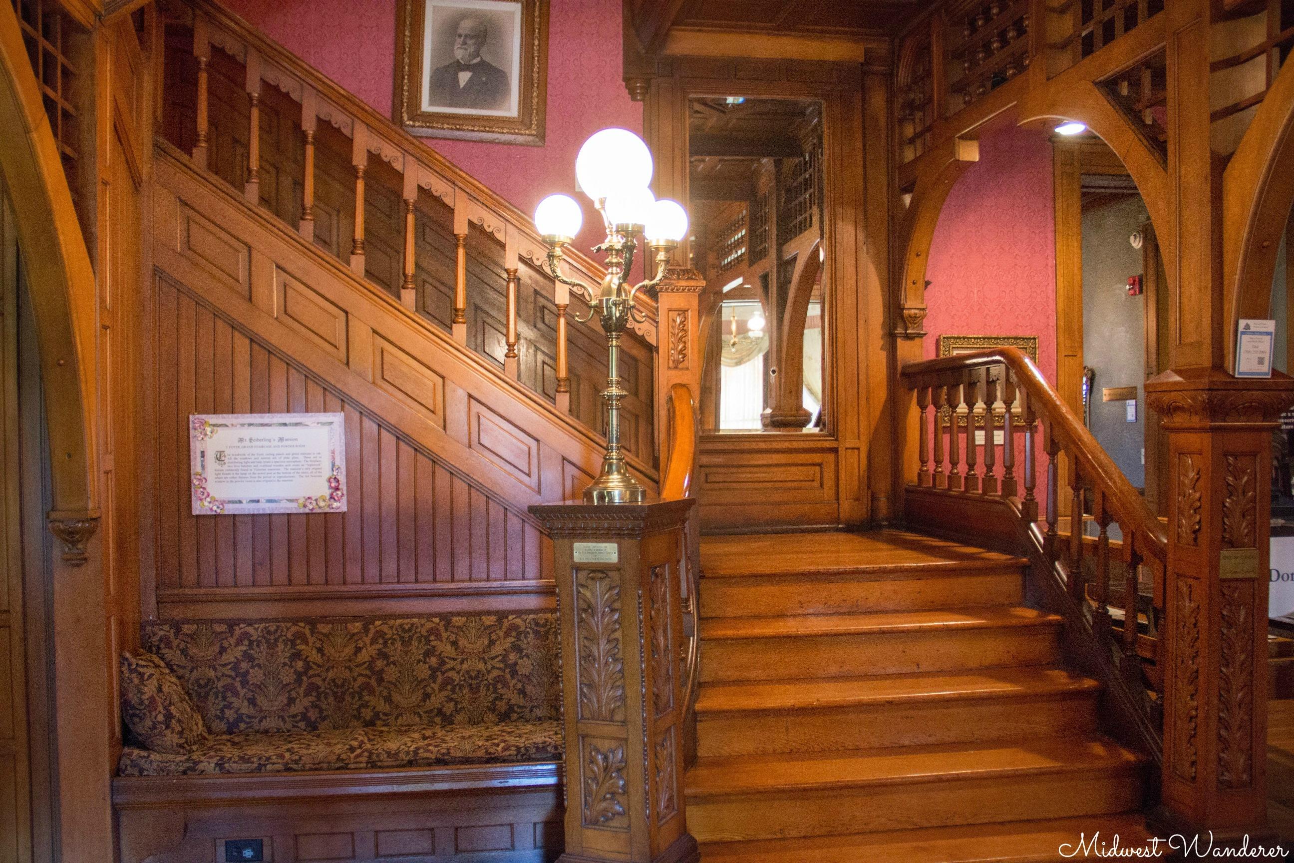 riginal Light Fixture in Seiberling Mansion