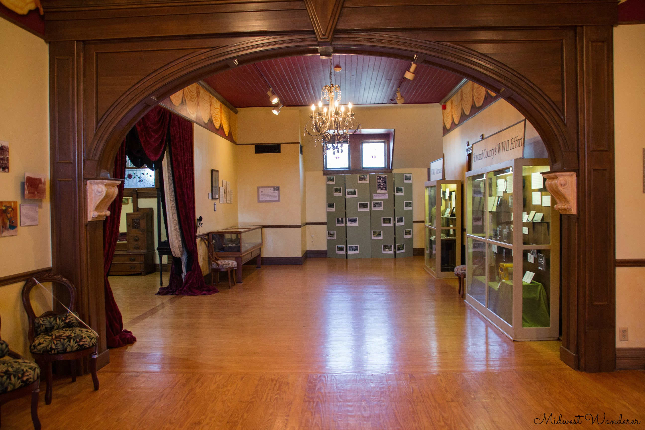 Seiberling Mansion ballroom
