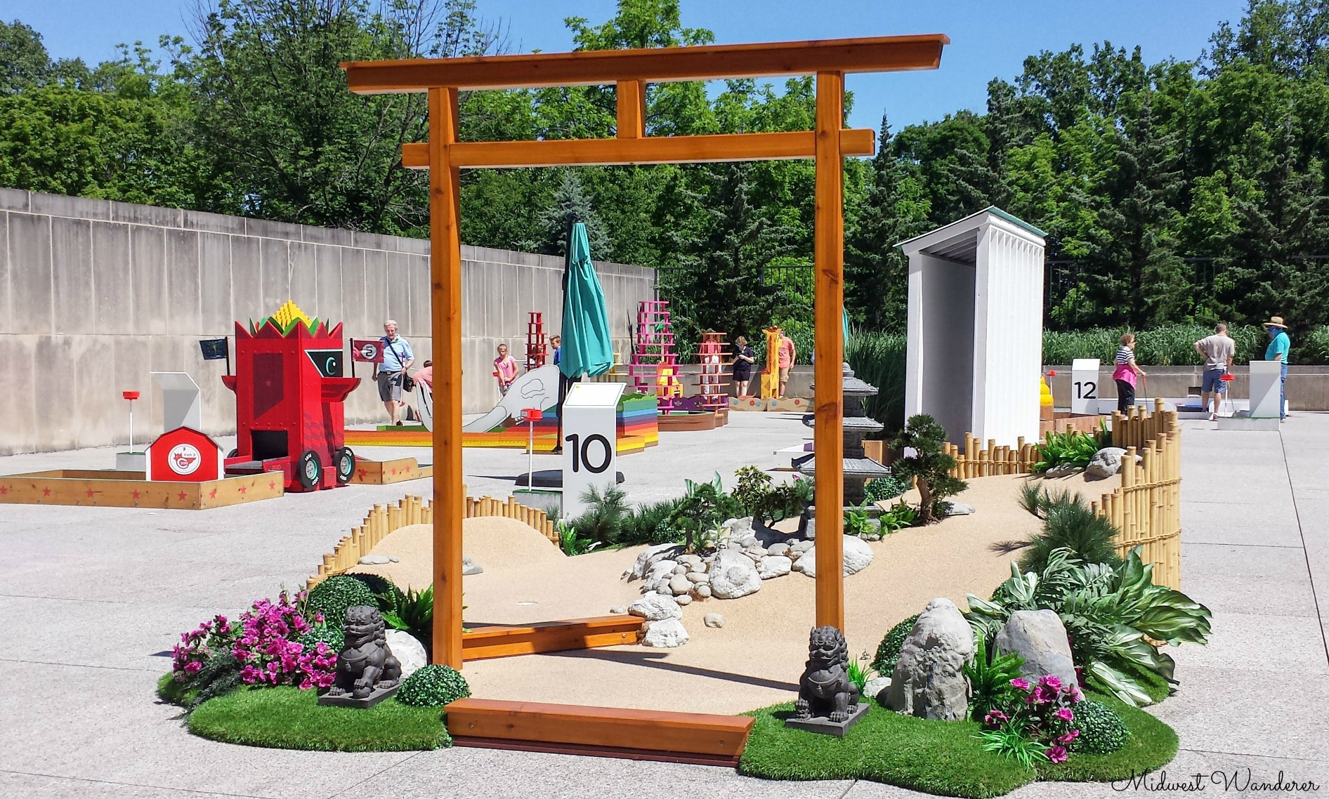 MiniGolf at the IMA - Stroll Garden
