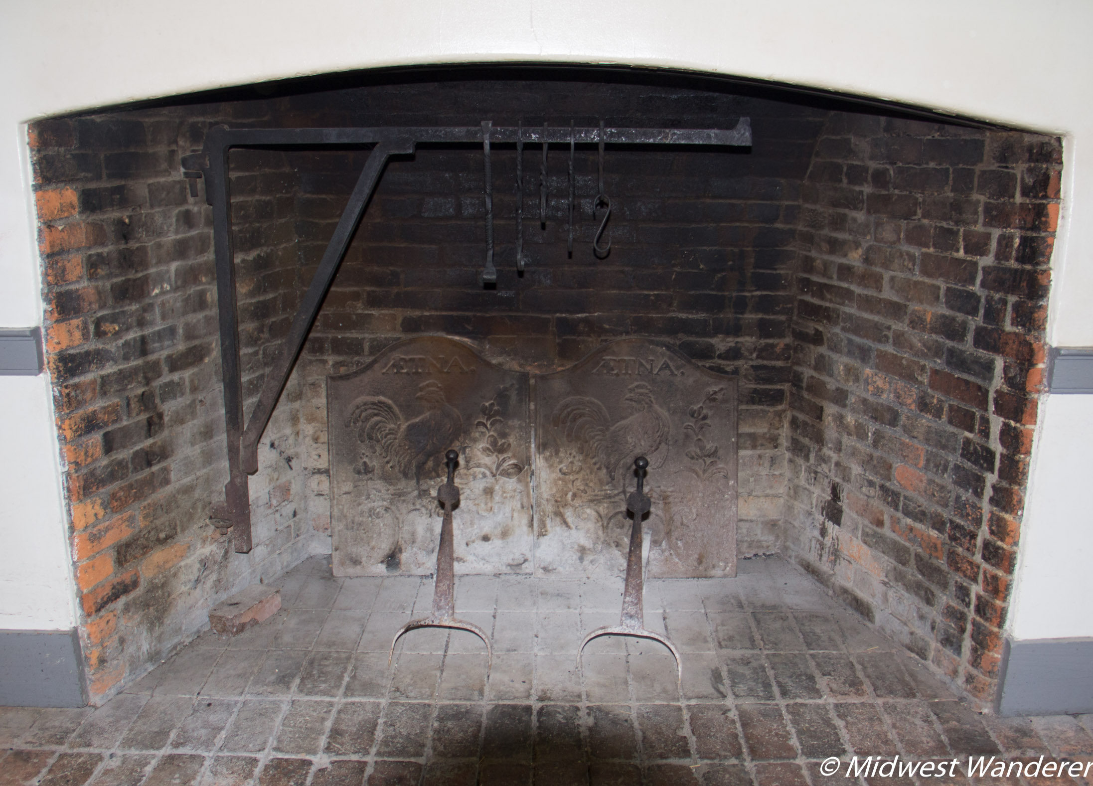 Conner Prairie House - Kitchen Fireplace
