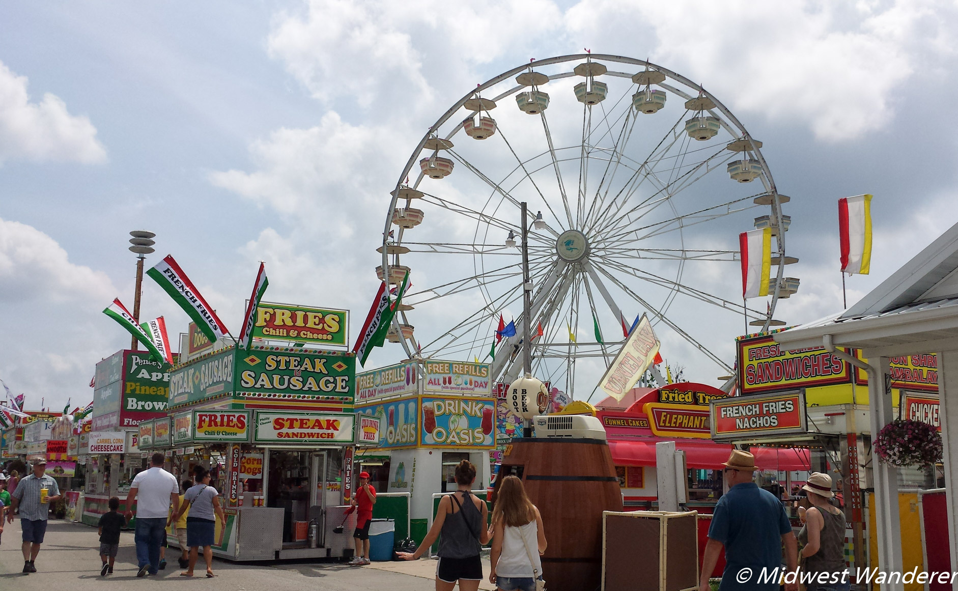 Elkhart County Fair midway rides