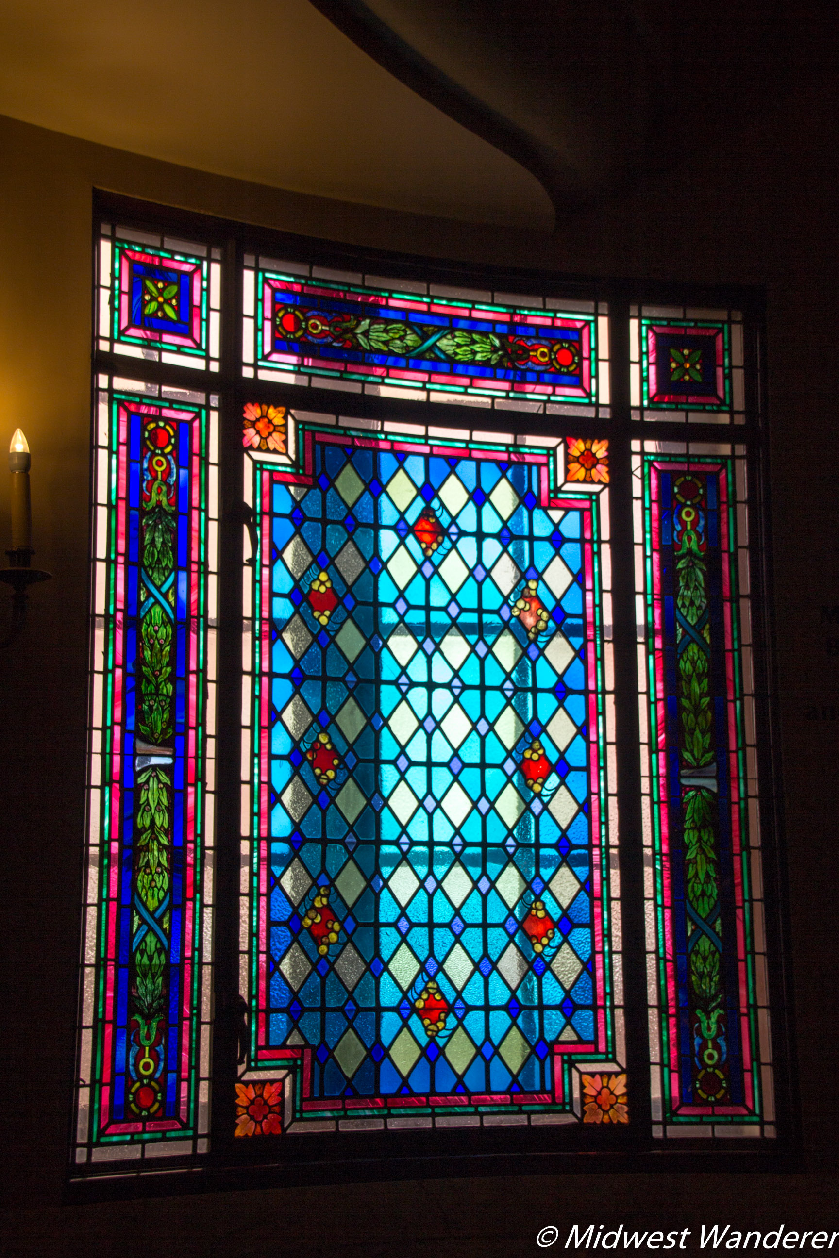 Hershey Theatre stained glass