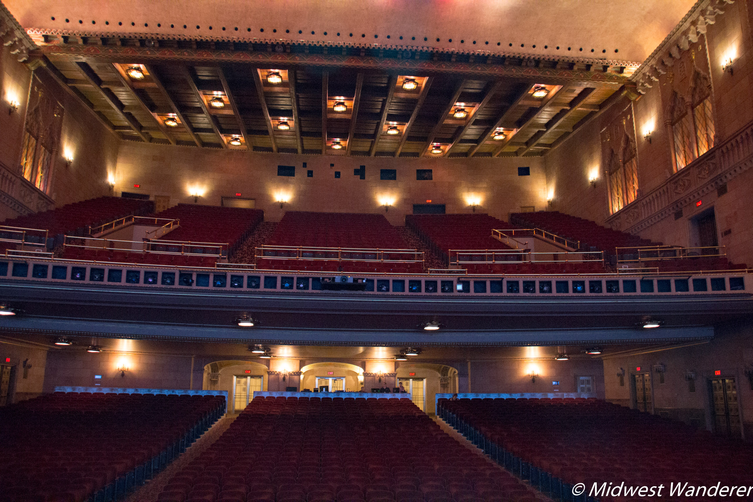 View from Hershey Theatre Stage