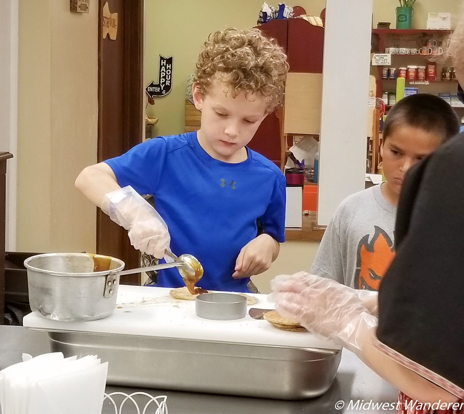 Cookie making at Dutch Village