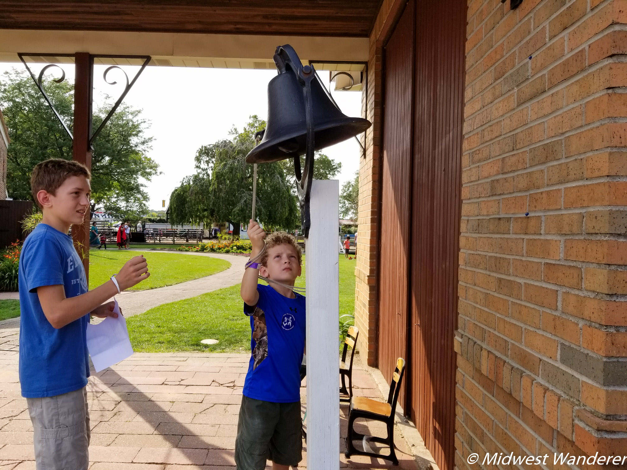 Ringing the school bell