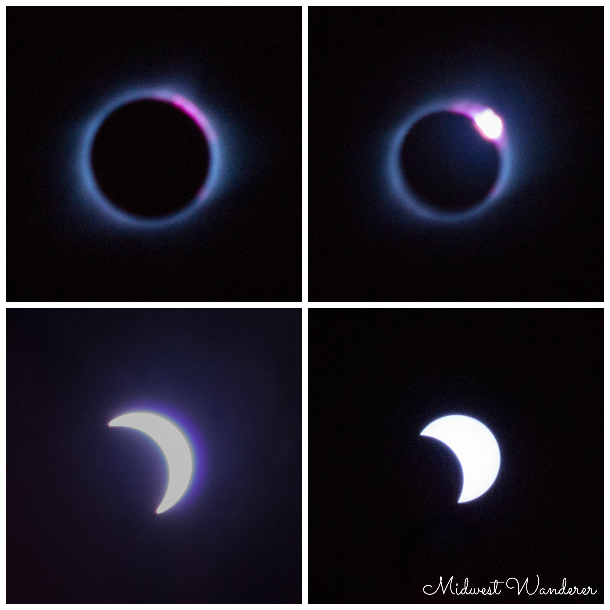Late phases of solar eclipse