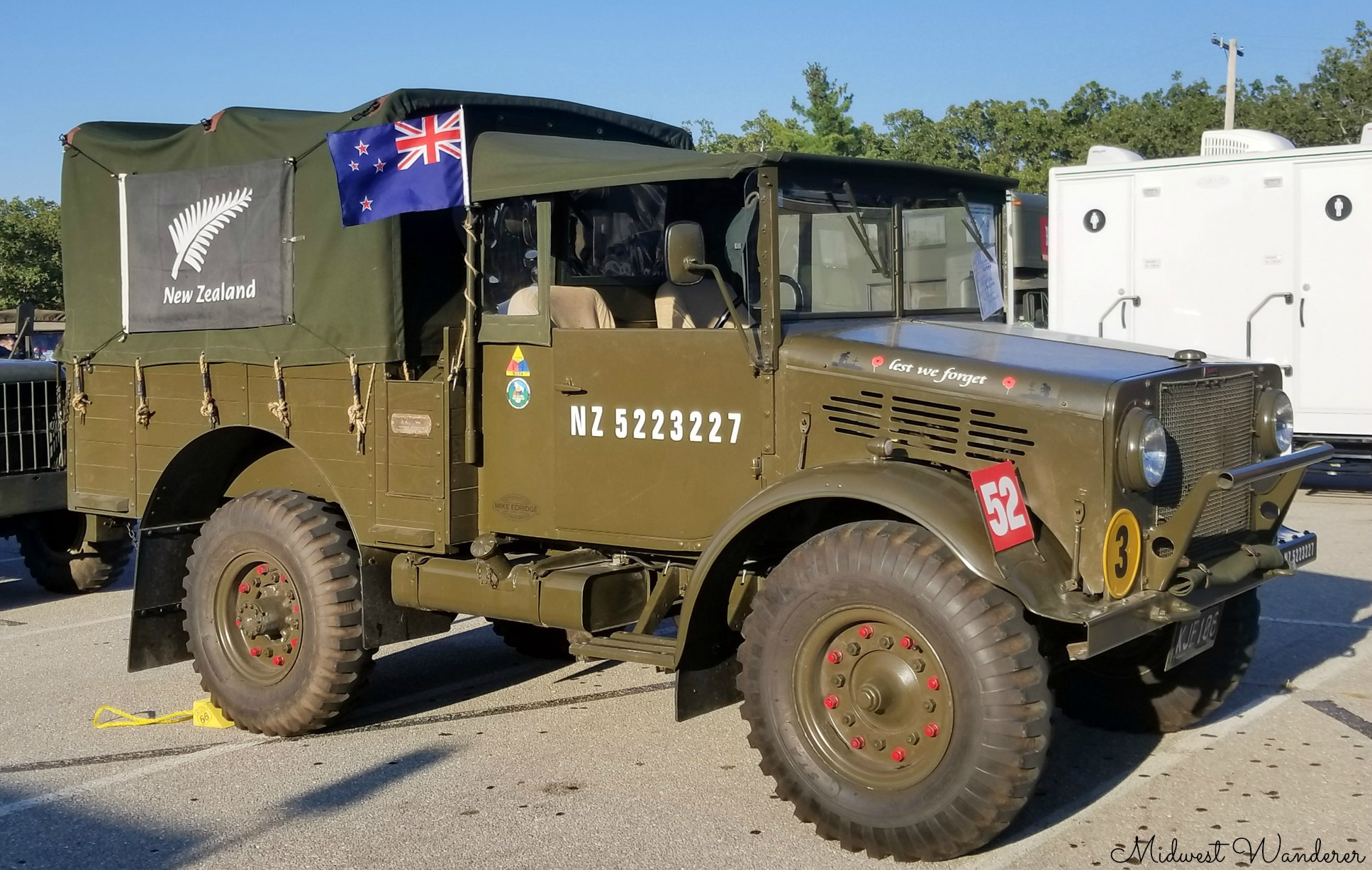 Route 66 Antique Military Vehicle Convoy at Fort Leonard Wood