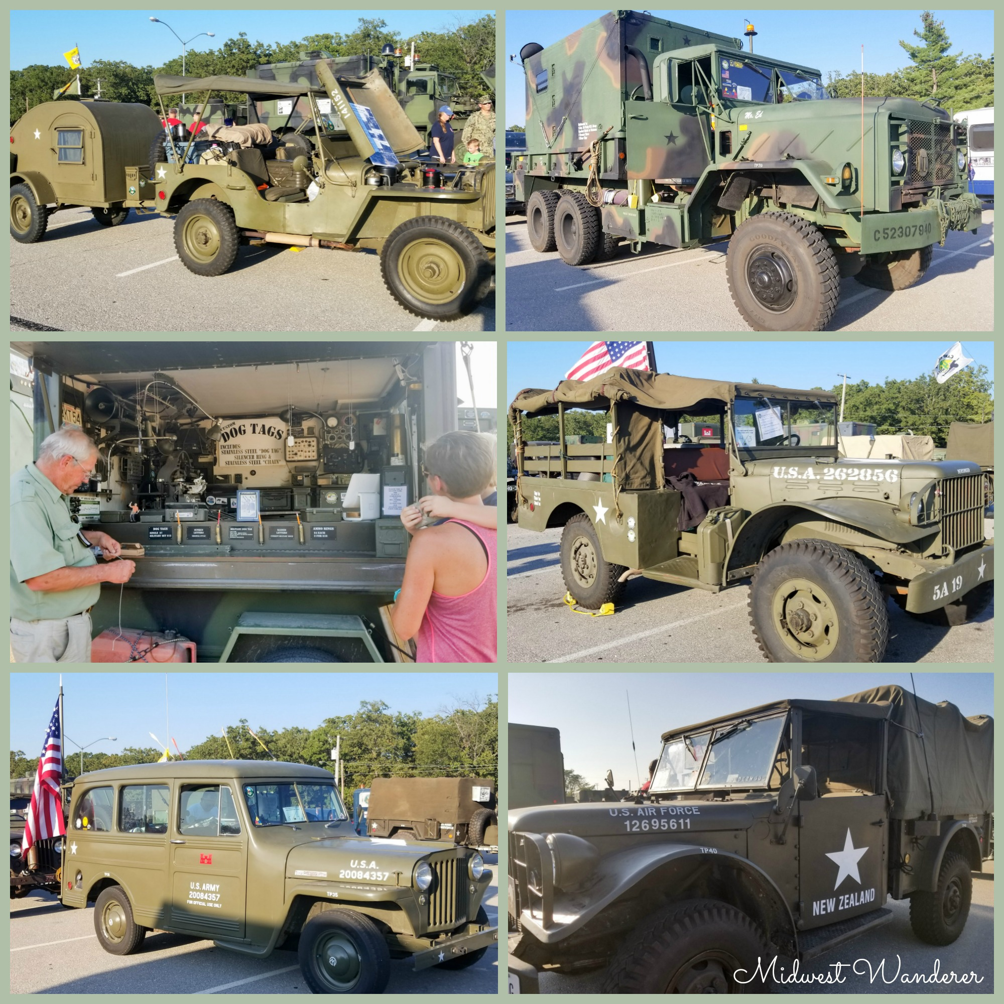 Route 66 Antique Military Vehicle Convoy at Fort Leonard Wood - Collage 2