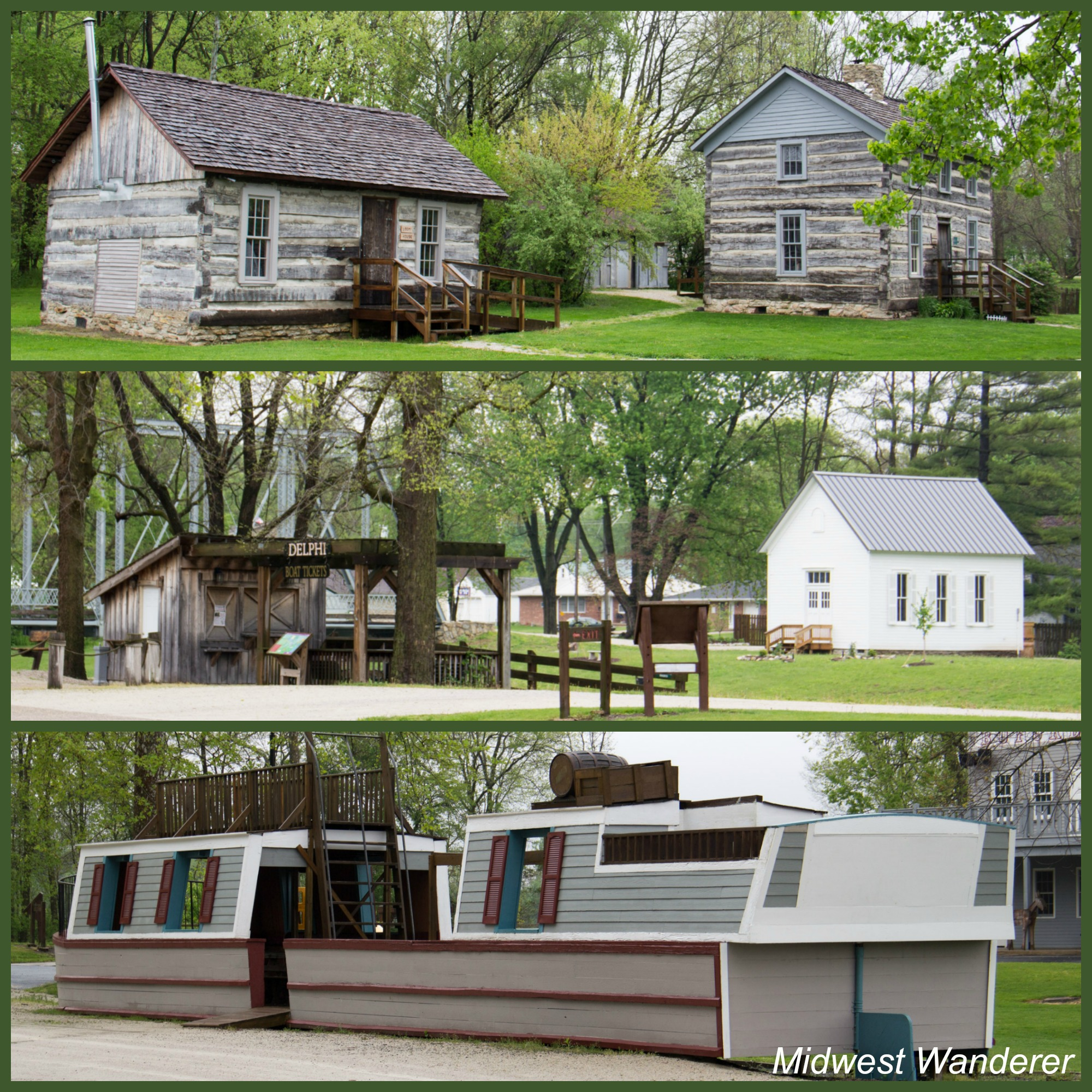 Wabash and Erie Canal Park Log Buildings