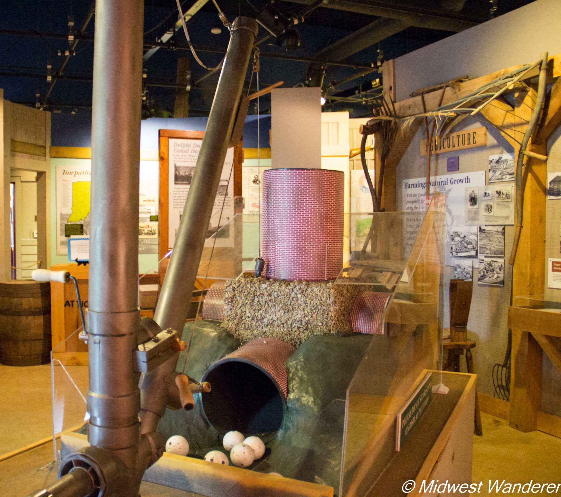 Wabash and Erie Canal - model kiln