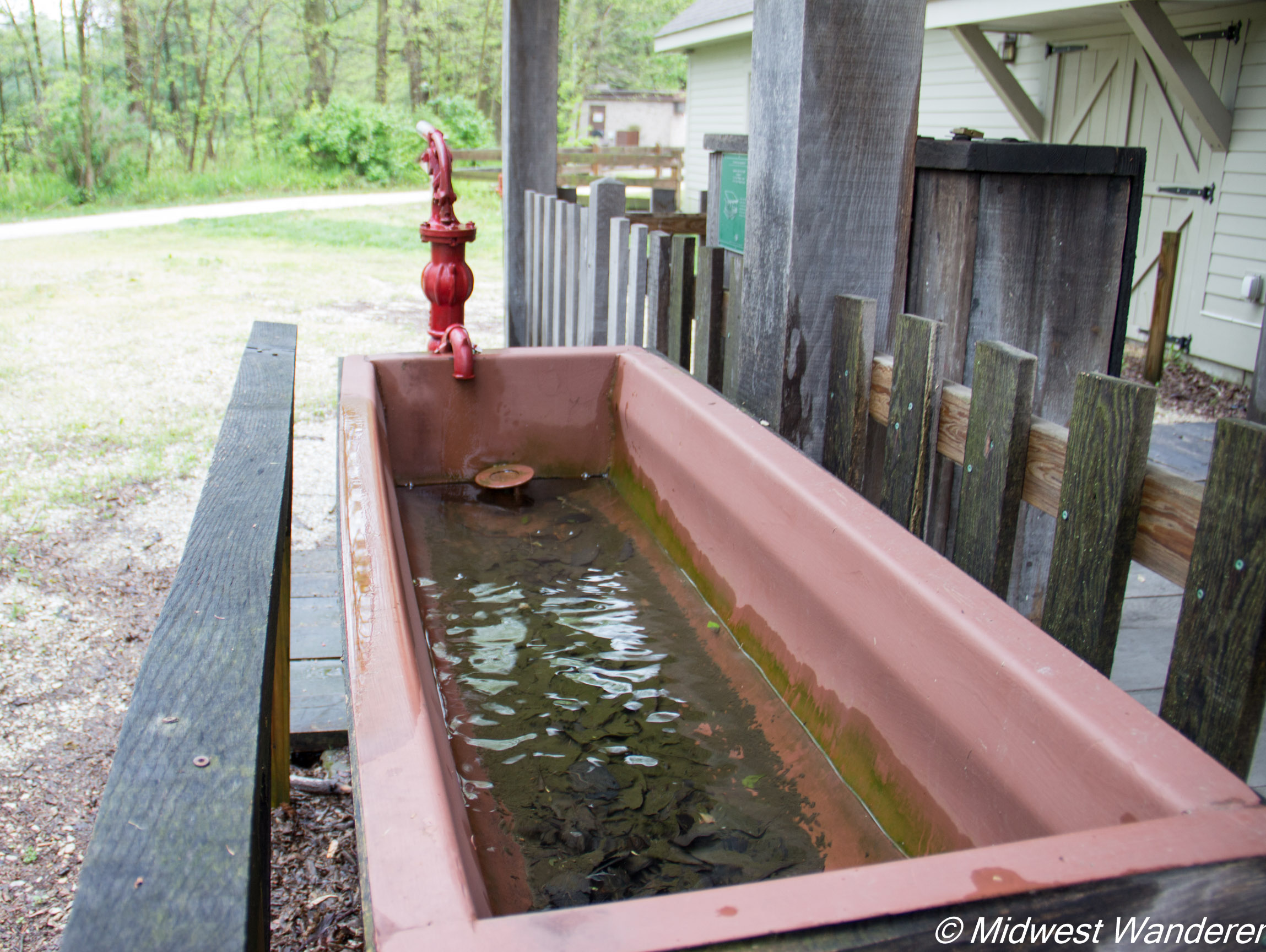 Wabash and Erie Canal horse trough