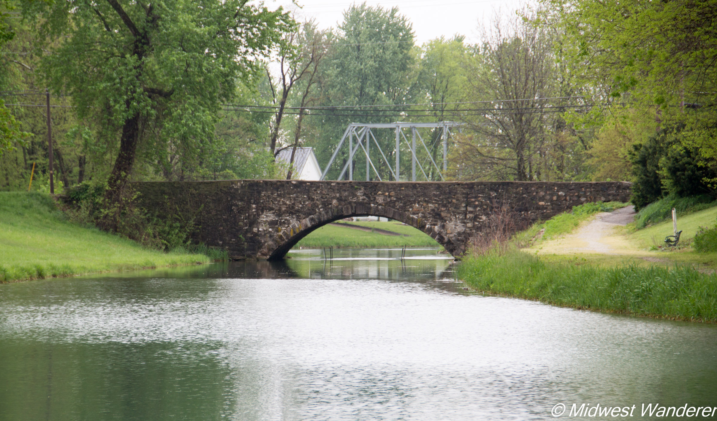 Wabash and Erie Canal historic bridge