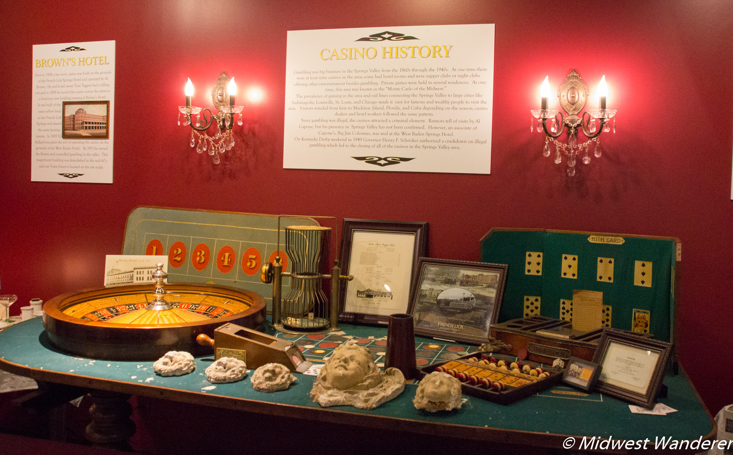 French Lick West Baden Museum casino exhibit