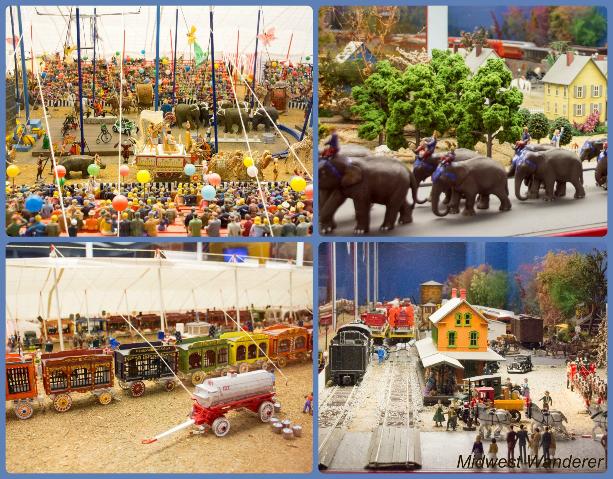 French Lick West Baden circus diorama