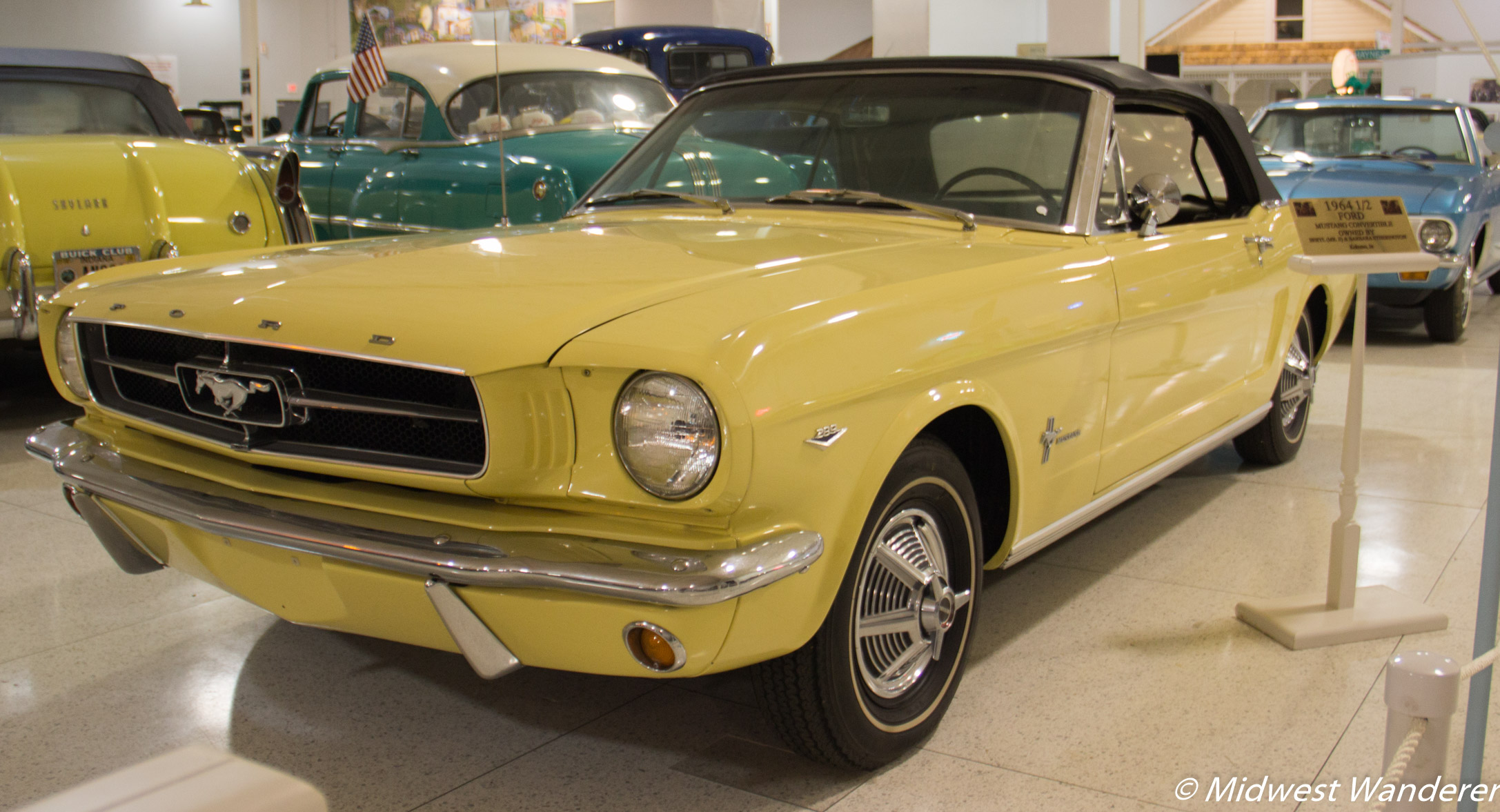 A rare 1964 1/2 Ford Mustang convertable