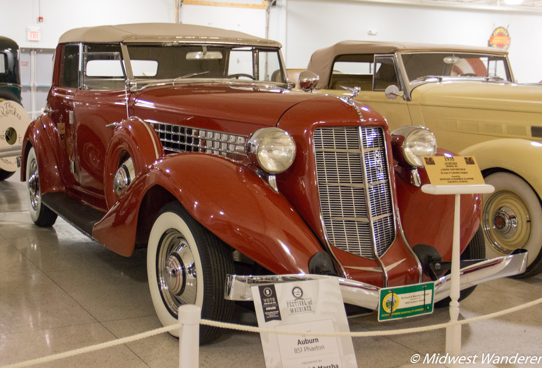 1935 Auburn model 851 Convertible, Kokomo Automotive Museum