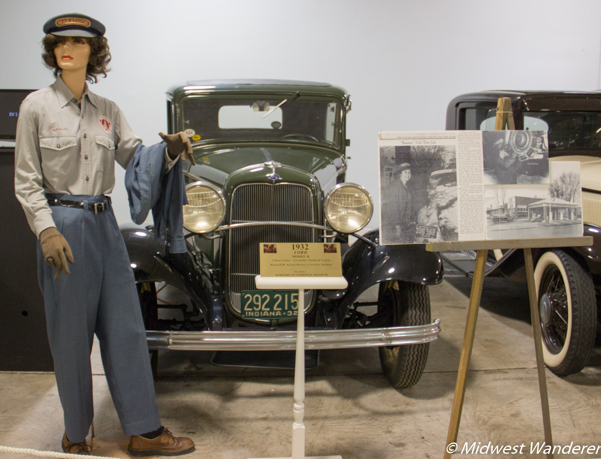 """Kassie"" on the job. Kokomo Automotive Museum"