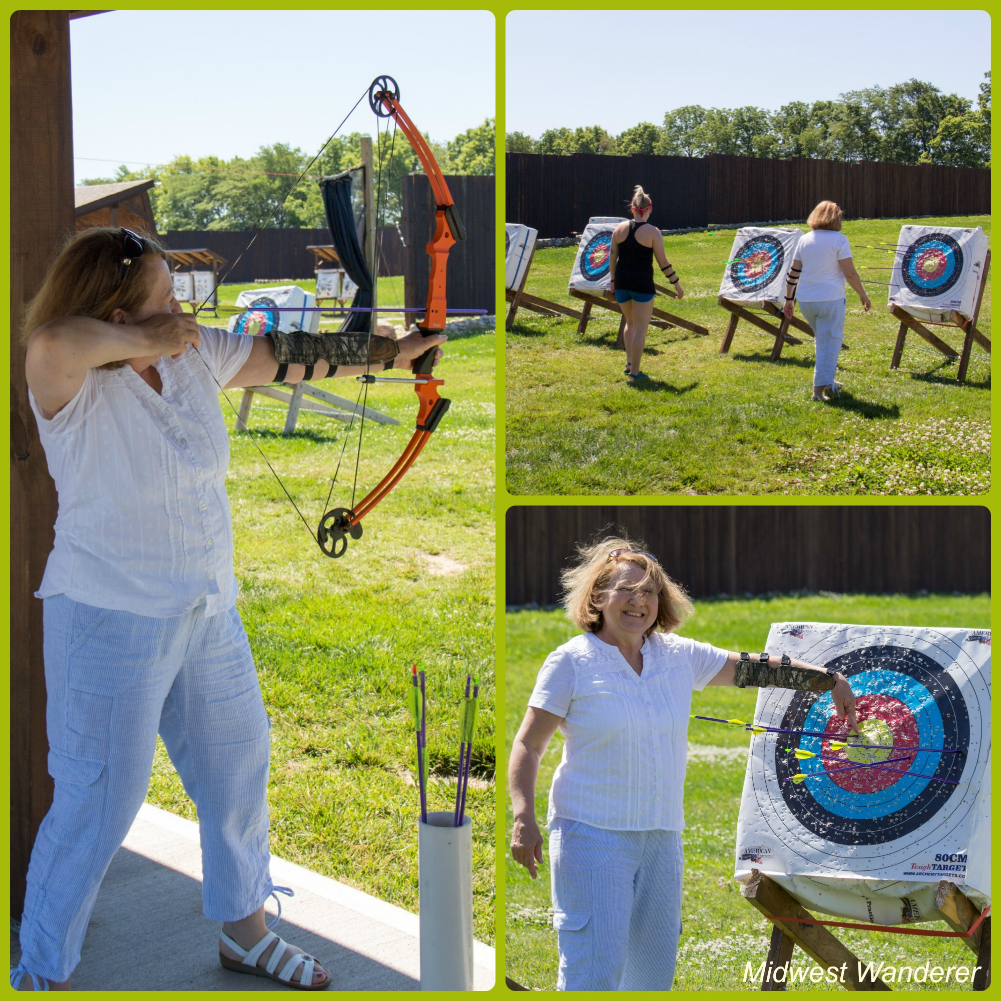 Koteewi Archery Range - shooting arrows