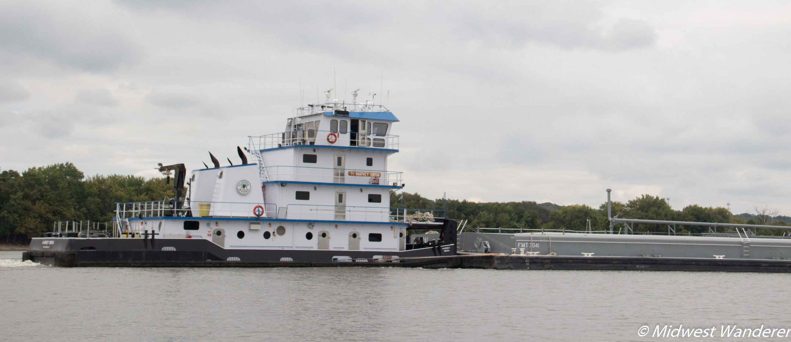 Barge in the Illinois River