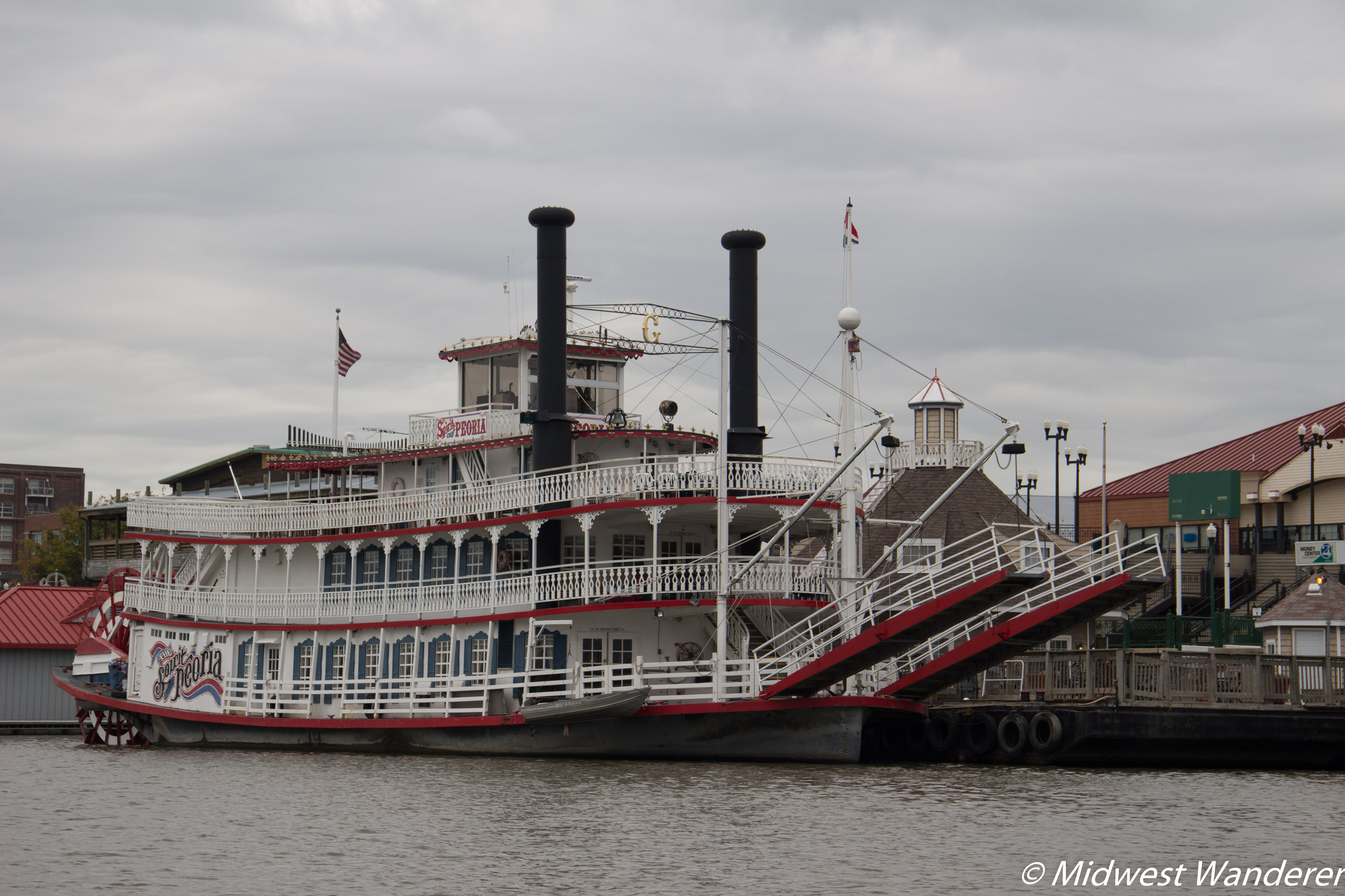 Spirit of Peoria - view from the Illinois River