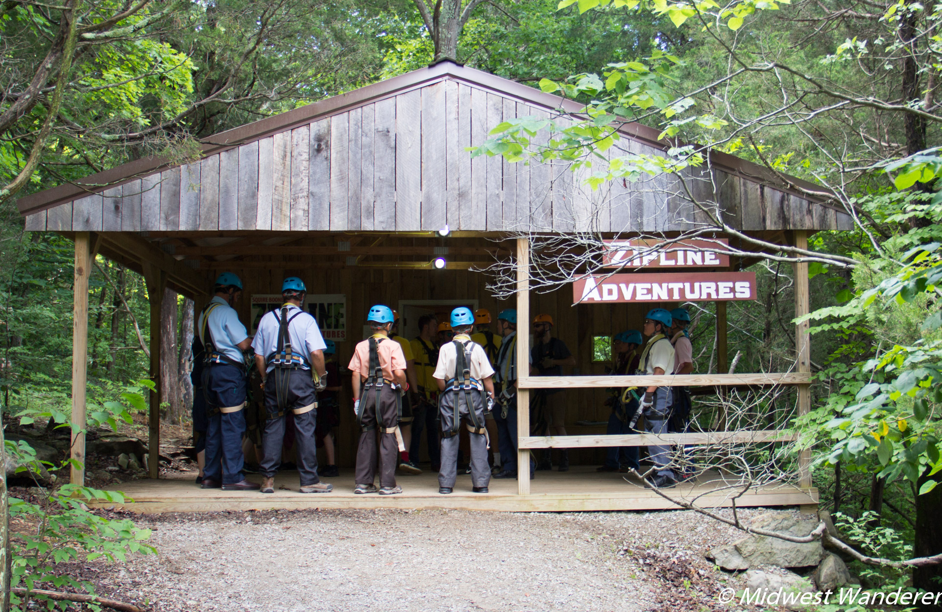 Squire Boone Caverns zipline
