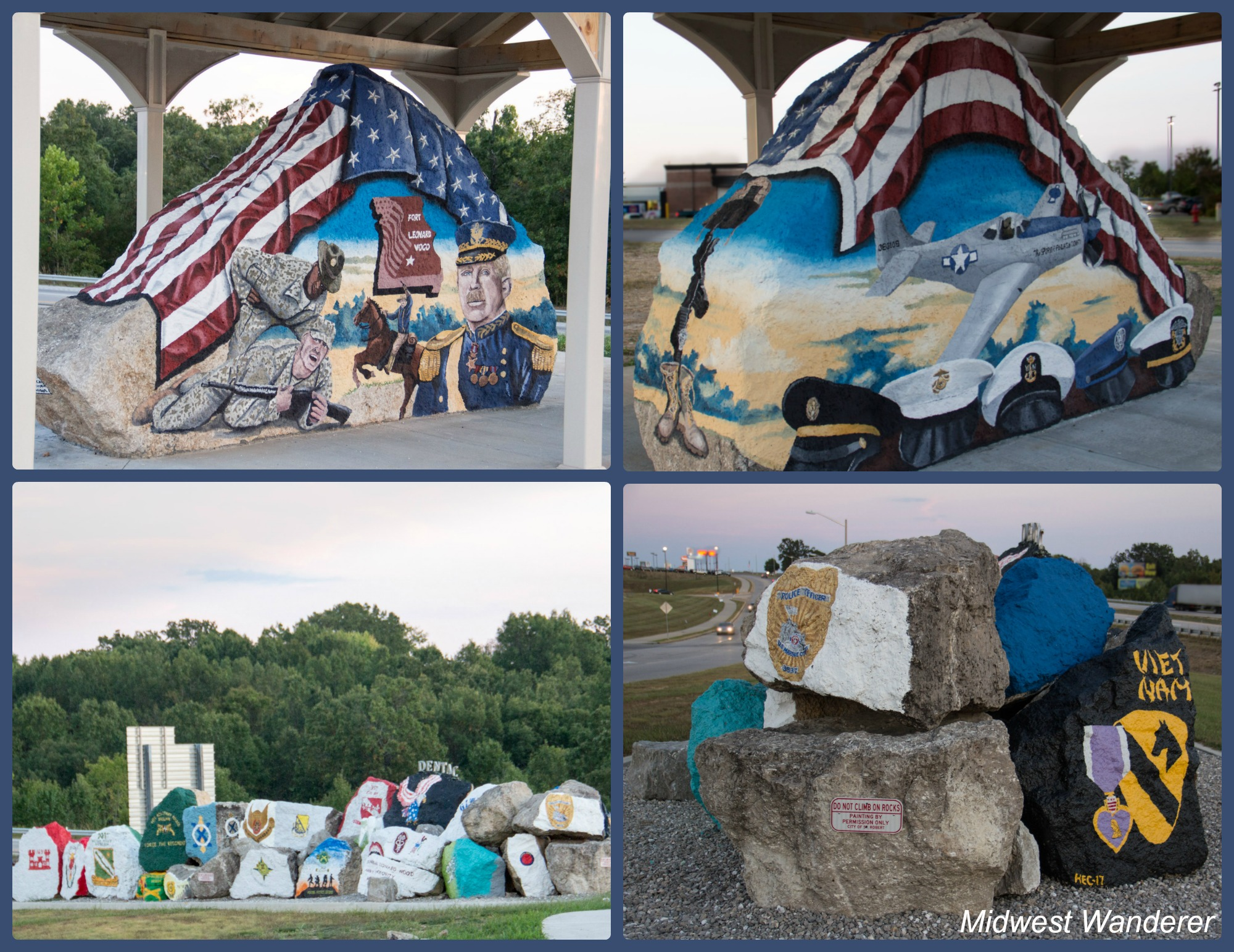 Military Tribute Rocks and Freedom Rock, Saint Robert MO