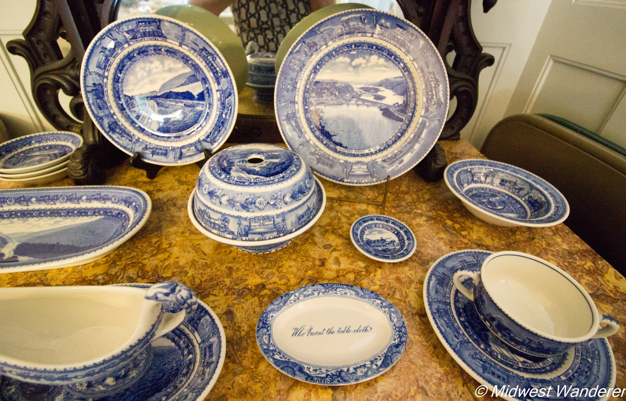 Pettengill-Morron House - tableware