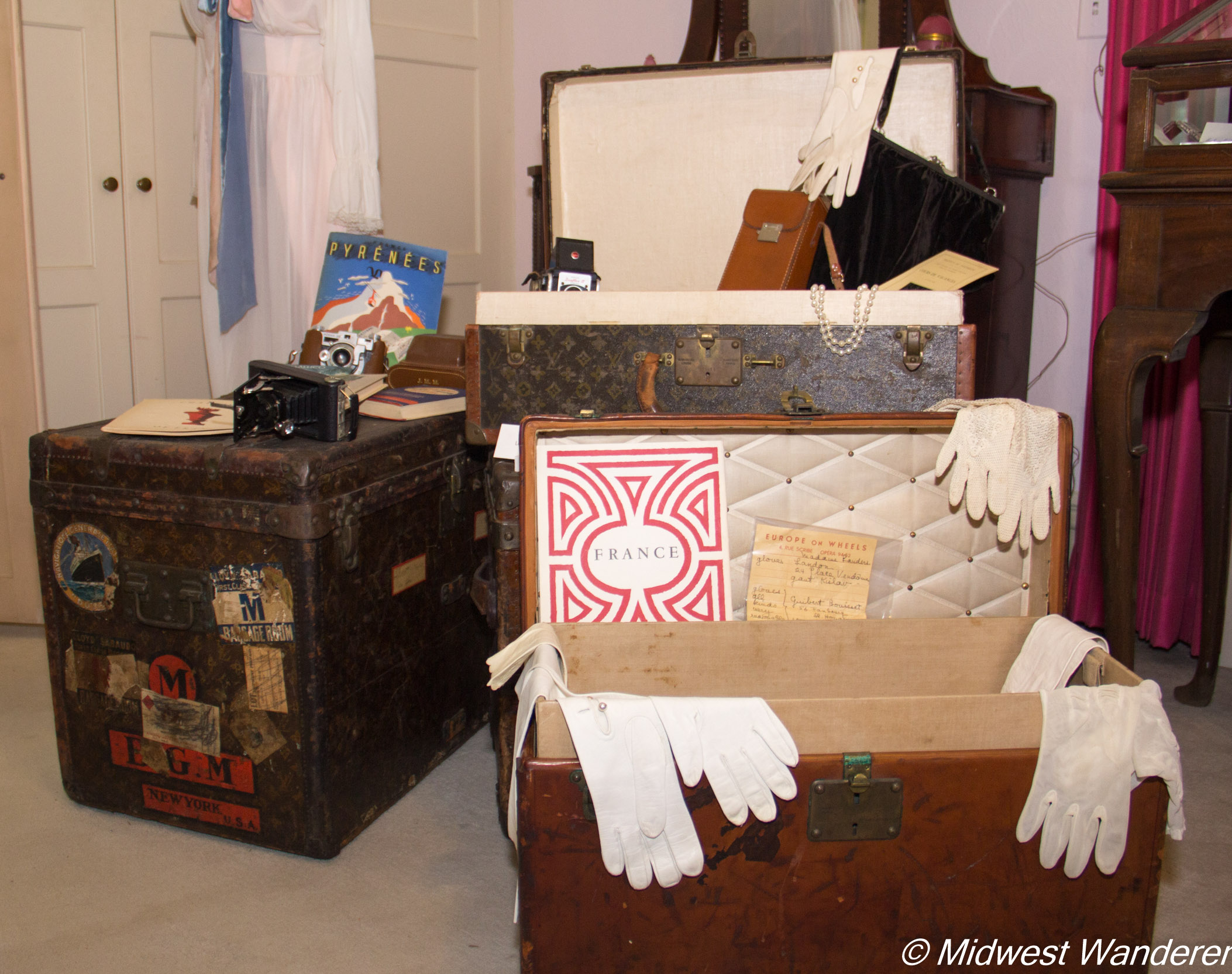 Pettengill-Morron House - Louis Vuitton trunks