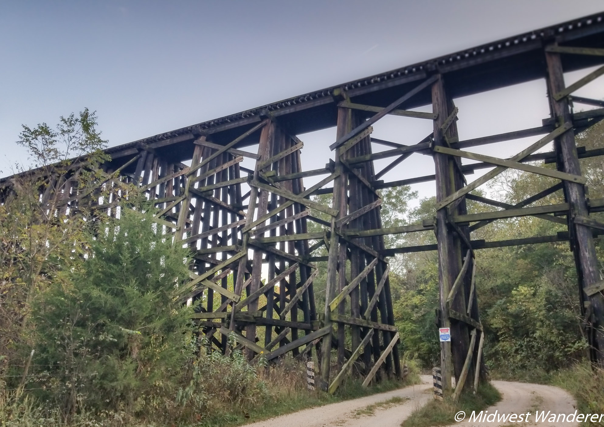 Route 66 through Pulaski County - trestle bridge