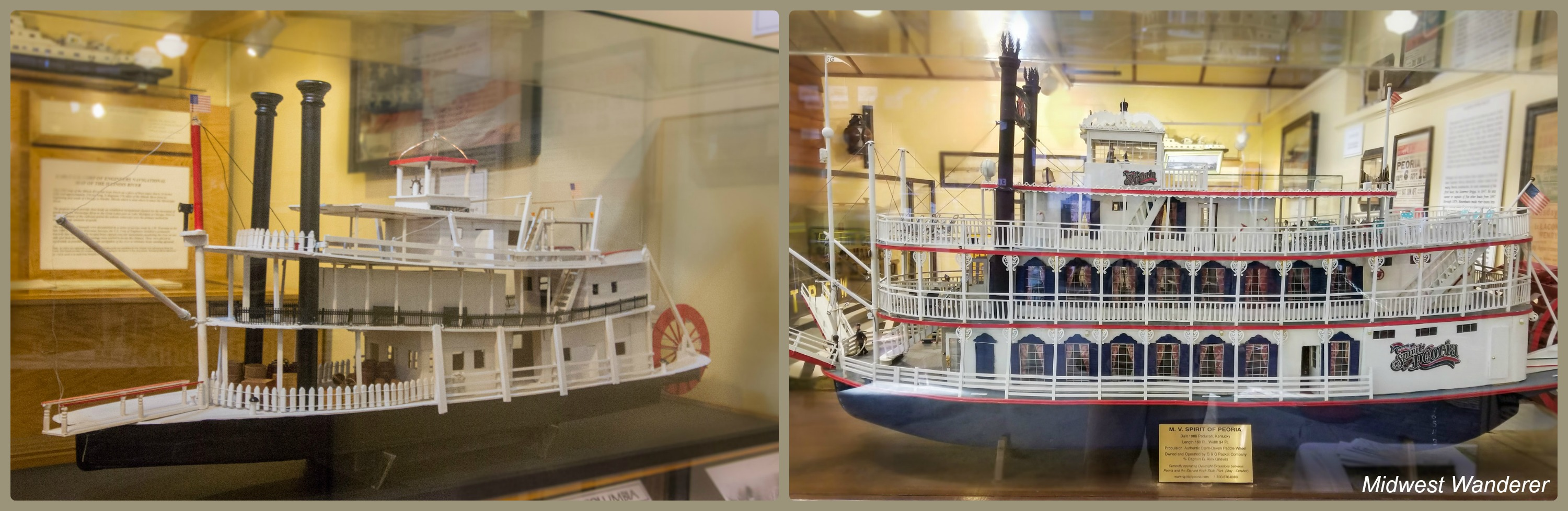 Wheels O' Time Museum - riverboat models
