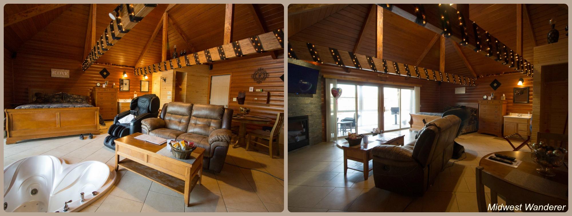 Serenity Springs cabin interior