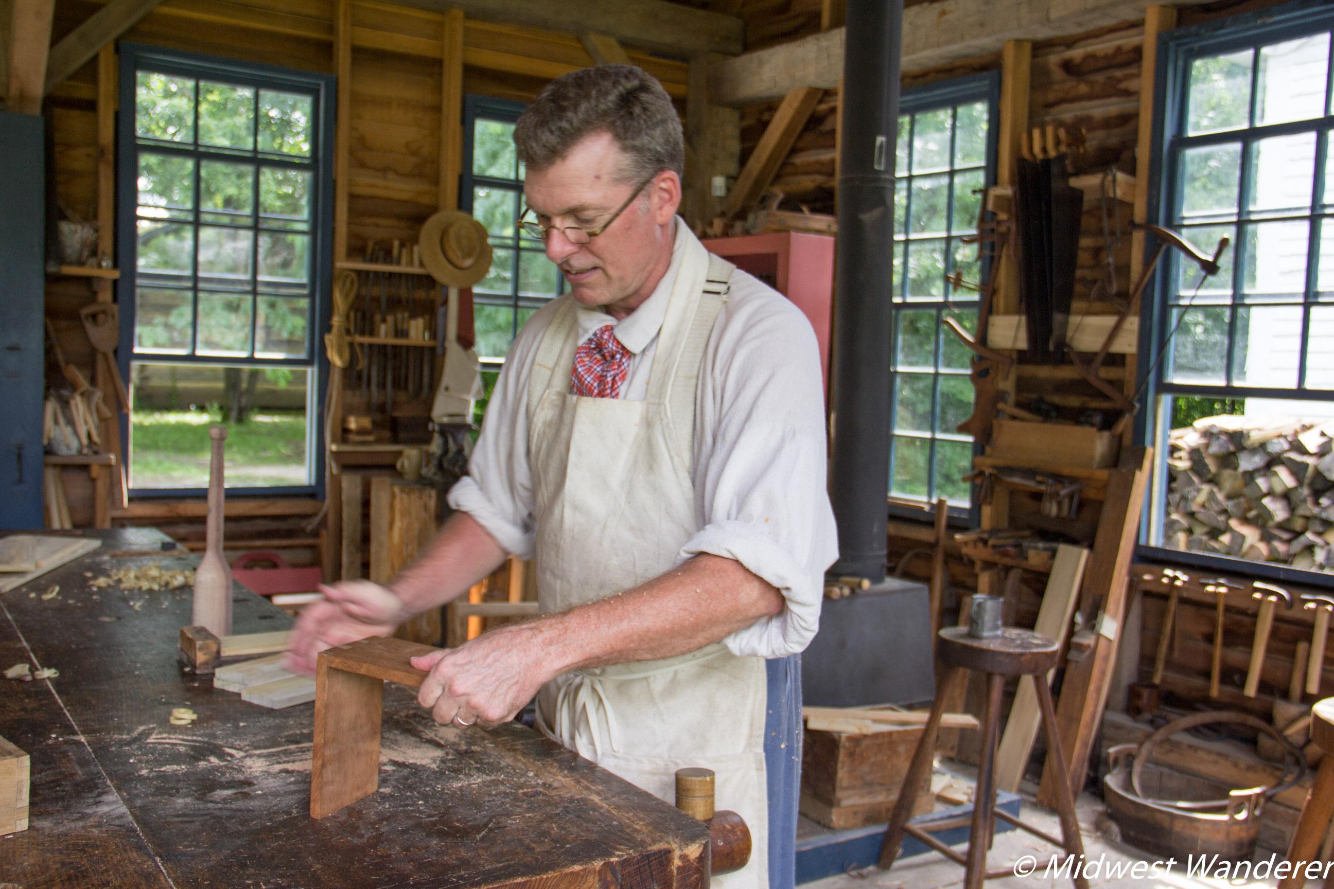 Conner Prairie Prairietown carpenter