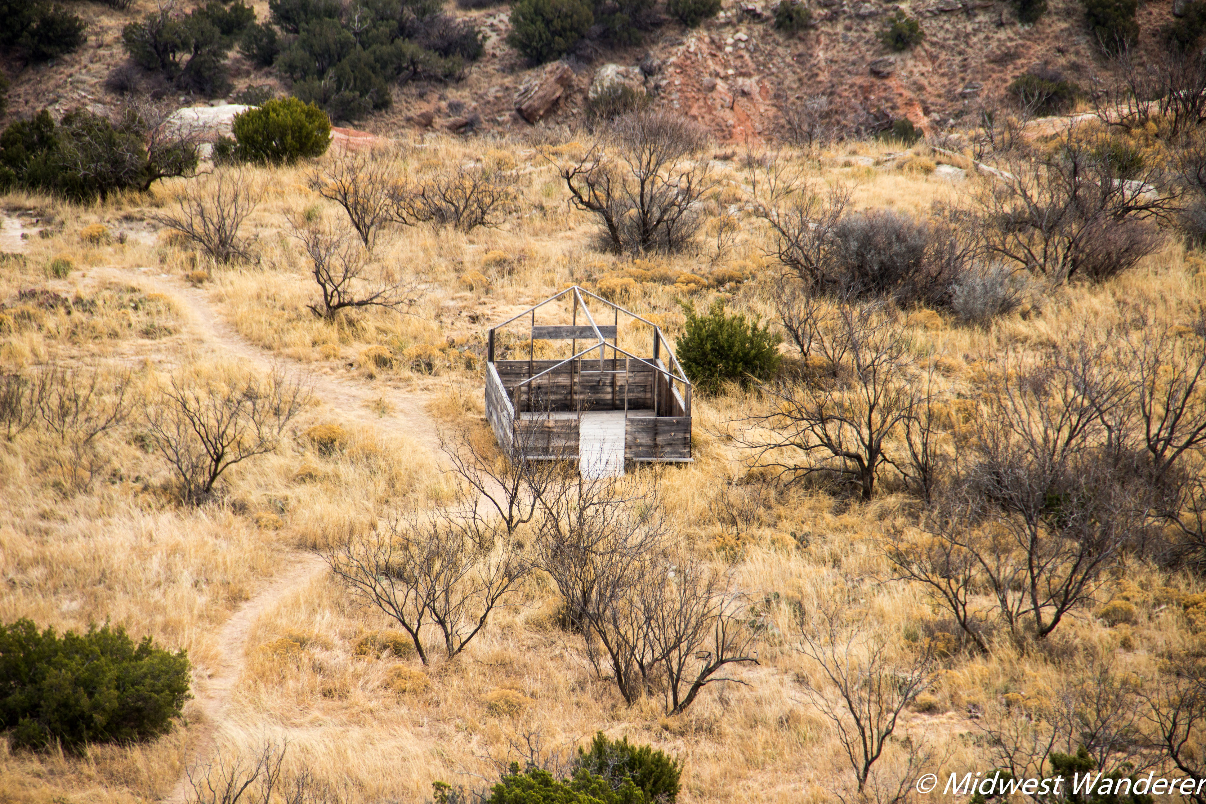 Palo Duro Canyon State Park - reconstructed tent frame
