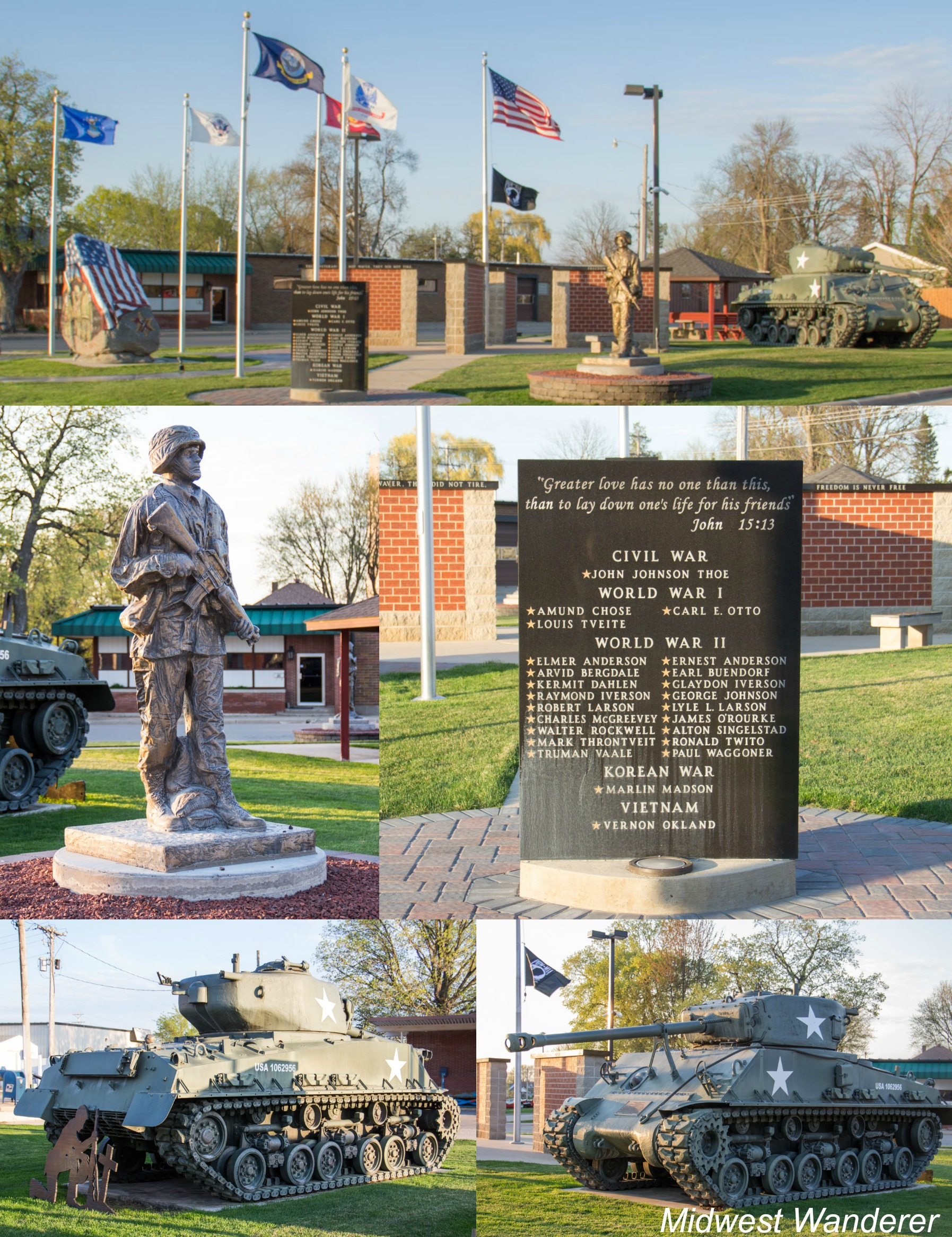 Veterans Memorial - Lake Mills Iowa