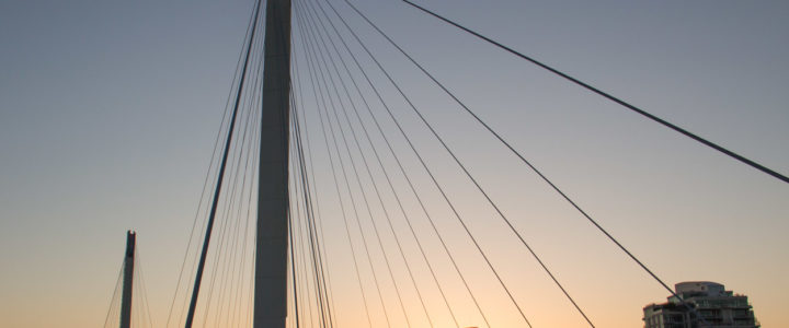 Bob Kerrey Pedestrian Bridge Connects Two States