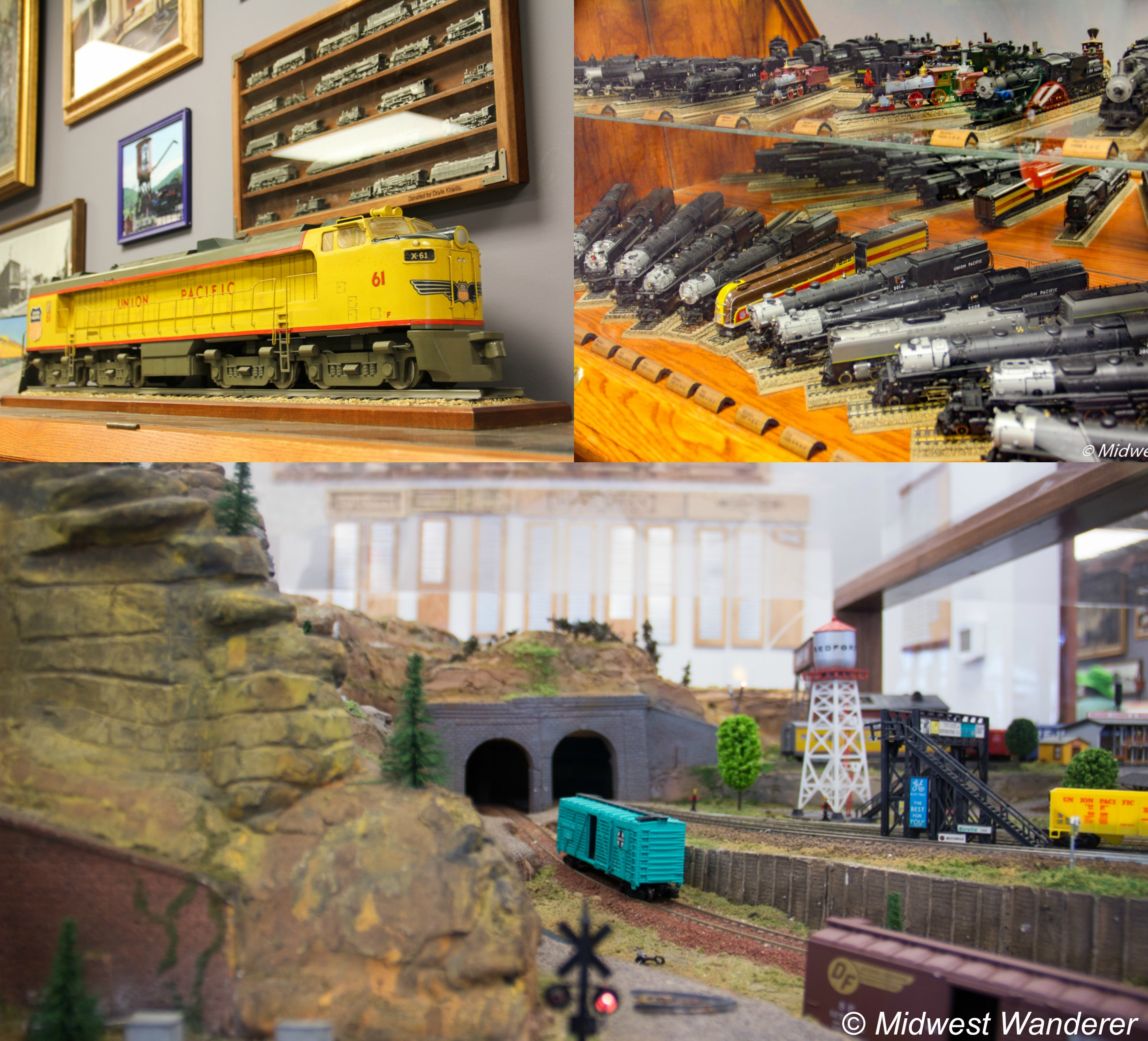 Model trains at Watson Steam Train and Depot