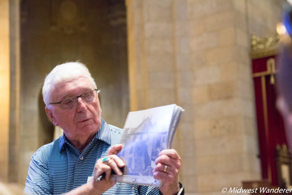 Carl Simmons, Cathedral of Saint Paul tour guide and historian