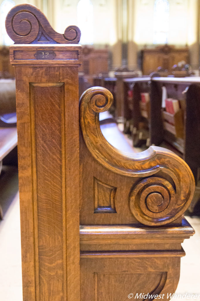 Pew in the Cathedral of Saint Paul